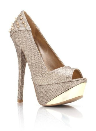 shoes khaki high heels spikes fashion tan