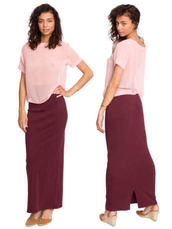 Interlock Long Skirt   Shop American Apparel
