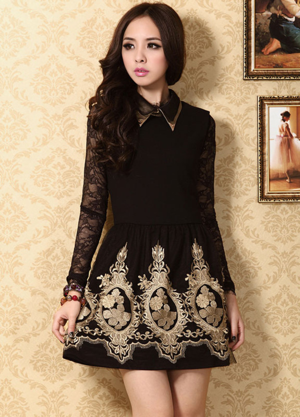 dress fashion elegant lace