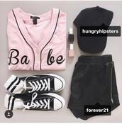 top,babe,shirt,jersey,jersey tee shirt