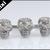 Retro Alloy 3 Skulls Metal Two Double Finger Ring 7-10 | eBay