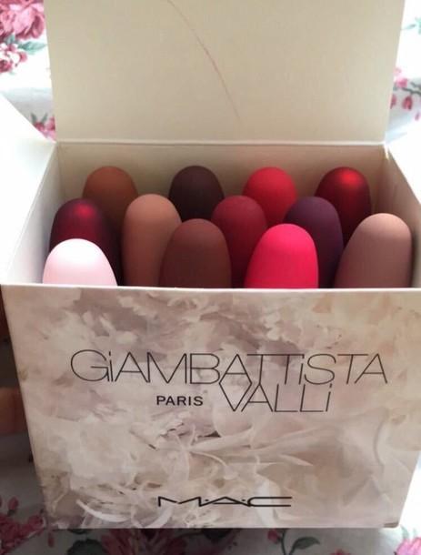 make-up mac lipstick lipstick mac cosmetics light pink giambattista paris valli dark