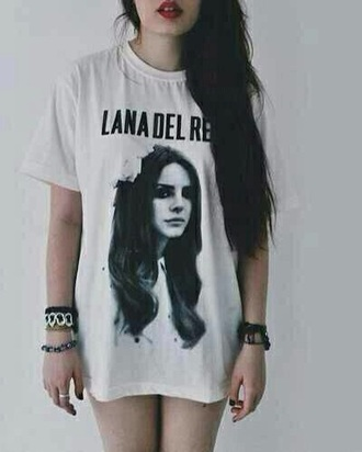 lana del rey band merch white t-shirt