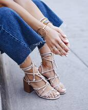 jewels,tumblr,jewelry,accessories,Accessory,bracelets,gold bracelet,ring,sandals,mid heel sandals,shoes
