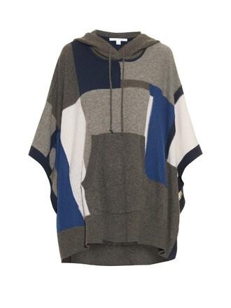 poncho grey top