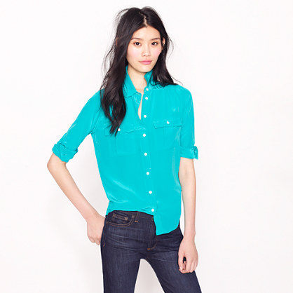 802ff4648a7f4 Blythe blouse in silk - shirts   tops - Women s new arrivals - J.Crew