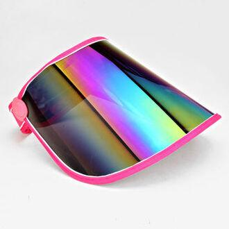 hat visor holographic metallic shades rainbow shiny kawaii cute