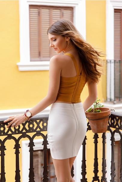 Skirt Tumblr Mini Skirt White Skirt Sexy Sexy Skirt Bodycon