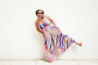 closetconfections blogger jumpsuit jewels sunglasses