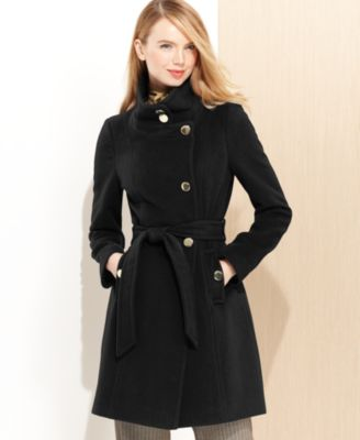Tahari Marla Shawl-Collar Wrap Coat - Coats - Women - Macy's