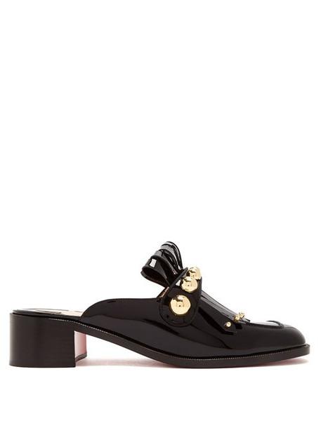 Christian Louboutin - Octavian 35 Patent Leather Mules - Womens - Black Gold