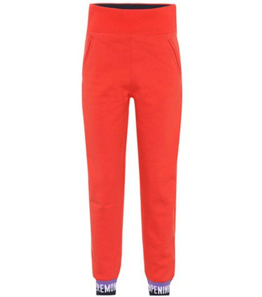 opening ceremony sweatpants cotton red pants