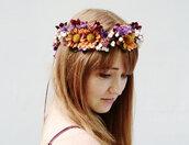 hair accessory,violet,wedding,woodland,flower crown,flower headband,wildflower,hippie,boho,crown,hipster wedding