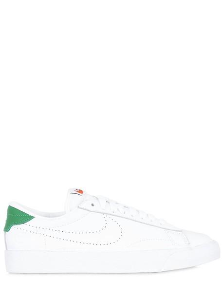 Nike sneakers white green shoes