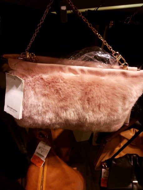 bag bags and purses bershka fur