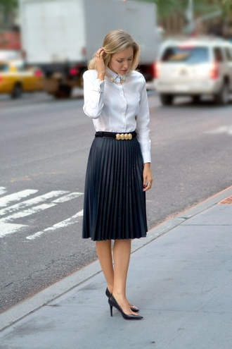 skirt zara aliexpress chicwish leather pleated h&m