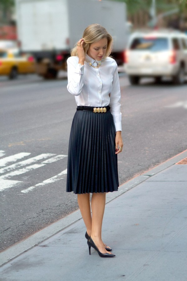 skirt zara aliexpress chicwish leather pleated h&m