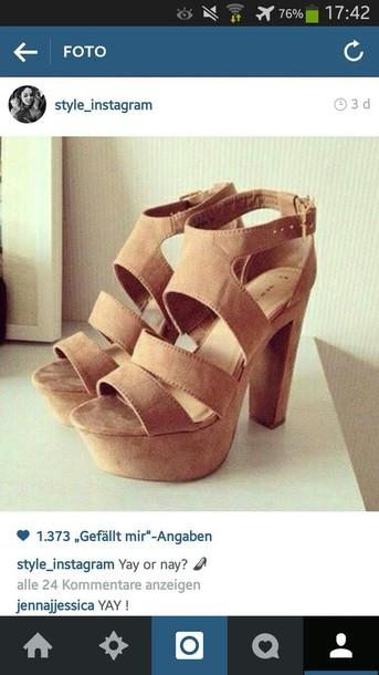 shoes high heels heels heel sandals instagram beige