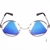 sunglasses,mirrored sunglasses,round sunglasses,vintage,retro,beach