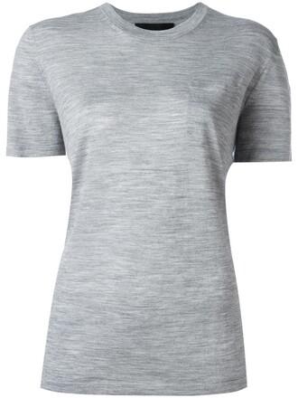 top knitted top women silk grey