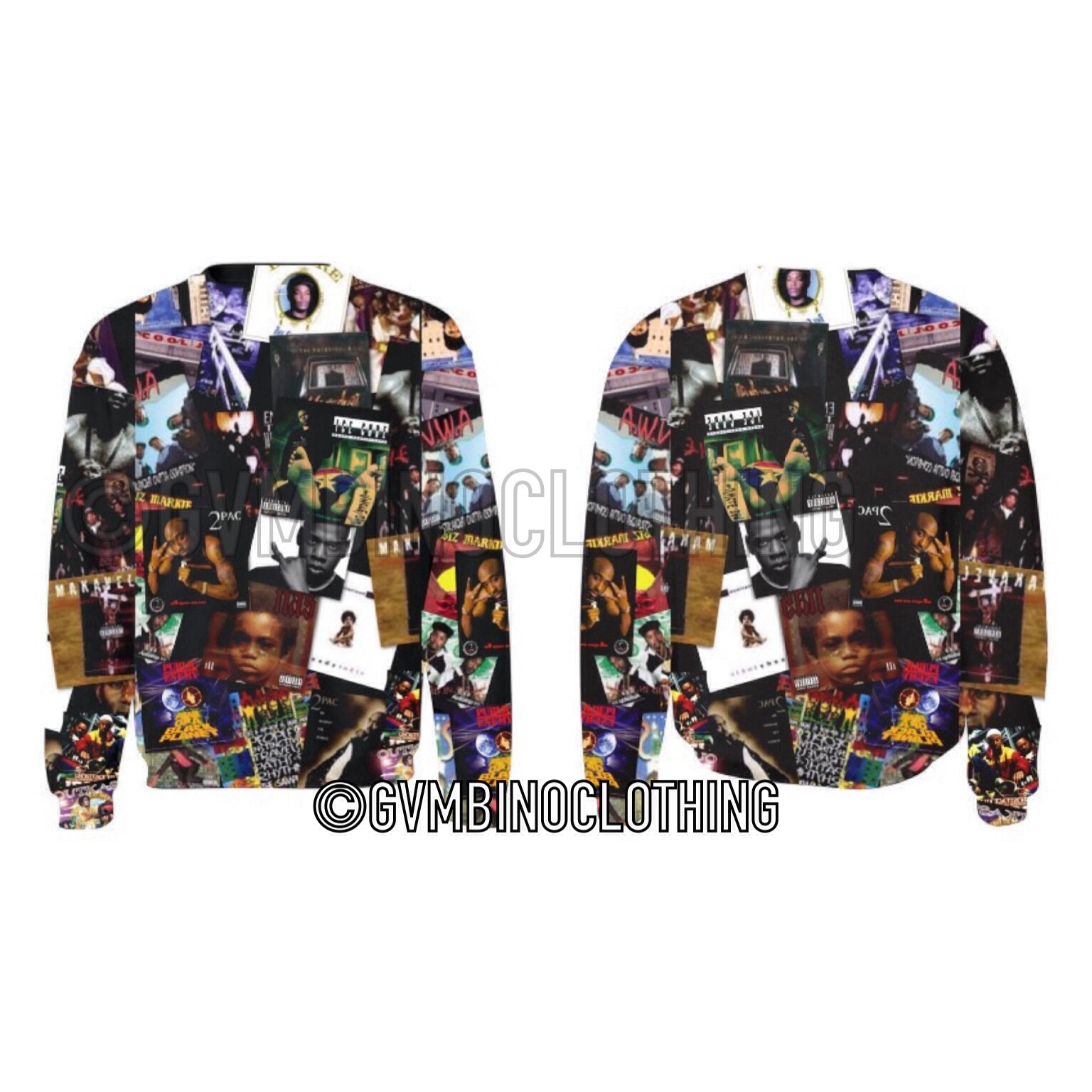 90's rapper album crewneck · gvmbino co. · online store powered by storenvy