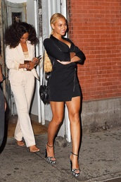 shoes,beyonce,heels,solange knowles,black dress,celebrity style,coat
