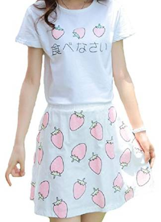 Amazon Com Japanese Kawaii Strawberry Suit Ice Cream
