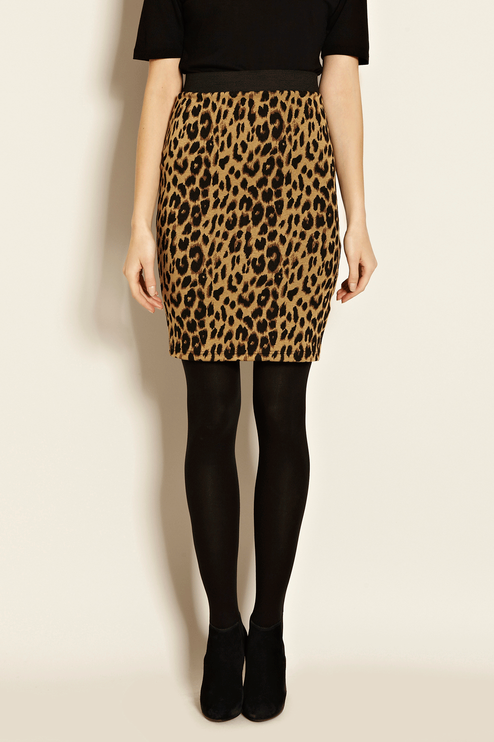 Warehouse New Year's Eve |  MULTI ANIMAL JACQUARD PENCIL SKIRT | Fashion Clothing | Warehouse Fashions