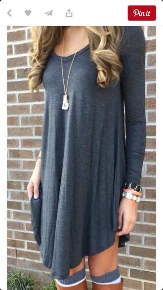 dress shirt dress grey long sleeves cotton shirt free vibrationz grey dress grey cotton dress knitted dress