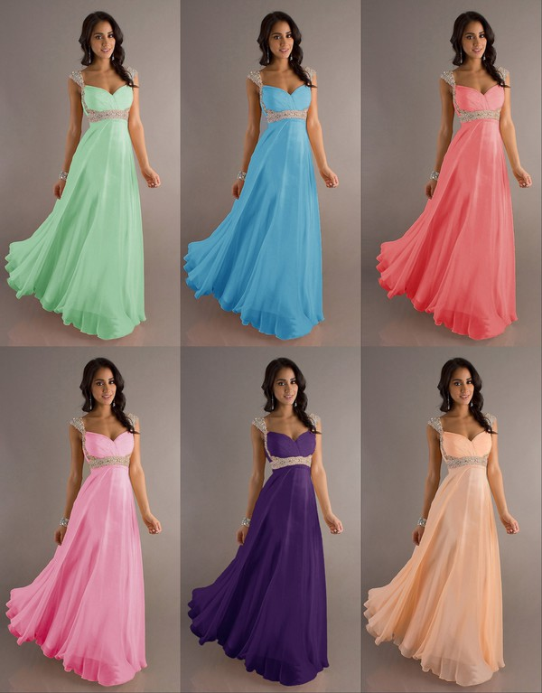 beautiful dresses many colours long prom dress chiffon dress beaded long dress crystal dress with straps