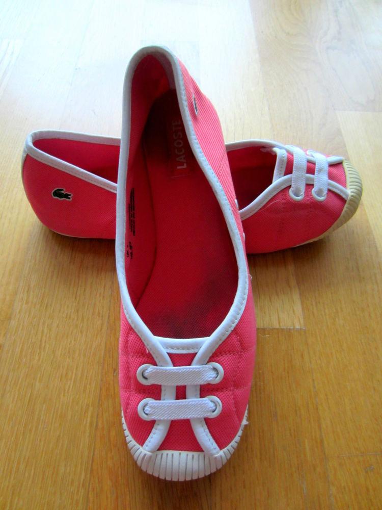 Lacoste Ballerinas Rosa Pink Mit Weiß GR 39 5 Top | eBay