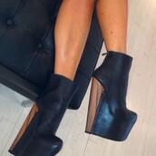 shoes,high heels,ankle boots,leather ankle boots,black leather boots,wood heels,black and brown wedge,black platform heels,stilettos,heels,wedges,black,wood wedges,wedge booties,yaaassss,leather,black leather,booties,black booties,black heels,black wedges,shoes black wedges
