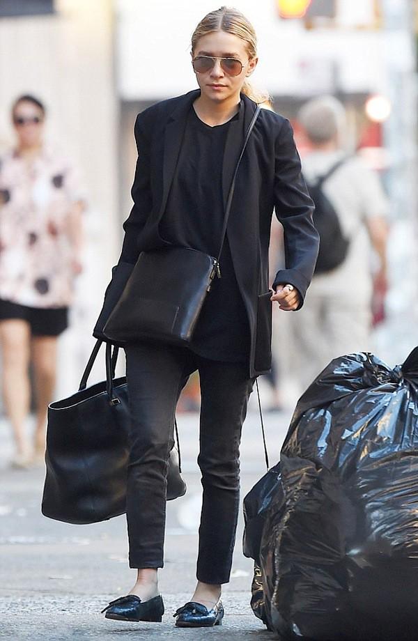 olsen sisters sunglasses jacket t-shirt bag