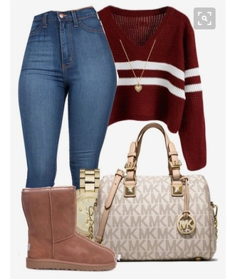 sweater red sweater cropped sweater