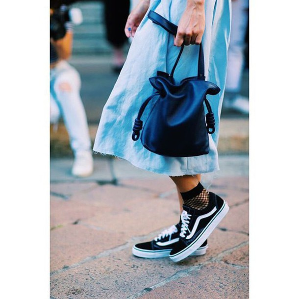 2717a339bb shoes tumblr socks fishnet socks vans vans outfits sneakers low top  sneakers black sneakers skirt denim