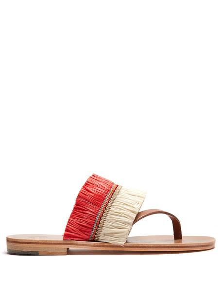 ÁLVARO embellished sandals embellished sandals red shoes