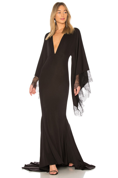 Michael Costello gown black dress
