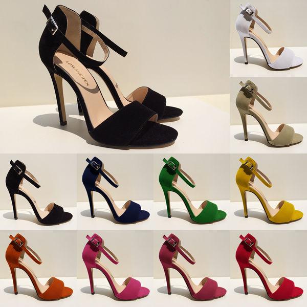 9f6f5b92874 New Girls High Heels Stilettos Open Toe Ankle Strap Wedges Platform ...