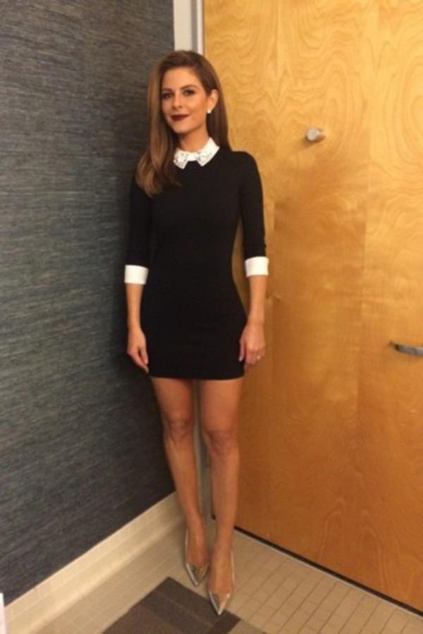 Dress: collared dress- tight- bodycon- junior- designer- date ...