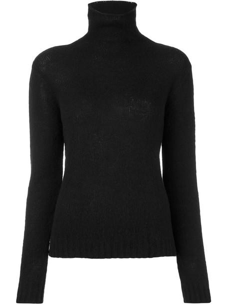 MSGM jumper women turtle black wool sweater
