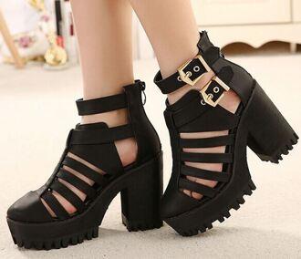 shoes it girl shop sandals black platform shoes cute