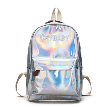 bag tumblr holographic bag backpack crybaby