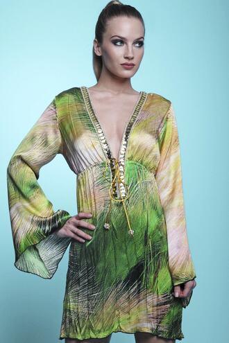 dress baccio baccio couture print silk dress bikiniluxe