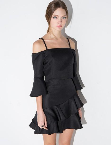Black Skirt Mini Dress