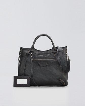 Balenciaga Classic Velo Bag, Anthracite - Neiman Marcus