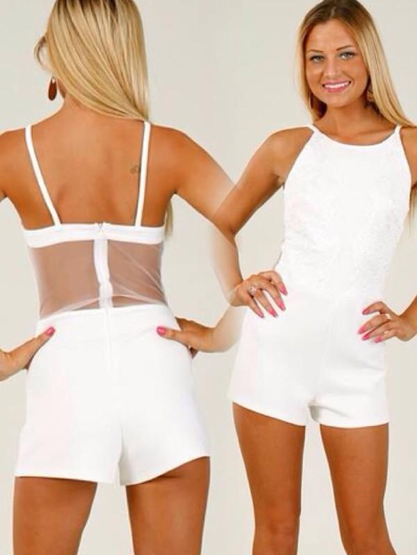 jumpsuit romper sheer mesh crop trendy style