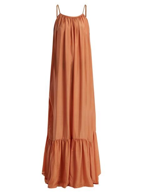 KALITA dress maxi dress maxi silk nude