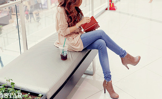 shoes love in love outfit cute pretty gilry girlie clothes top jeans heels gorgeous