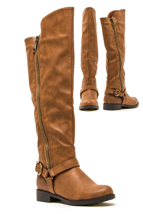 Cognac High Knee Boots – Betsy Boo's Boutique