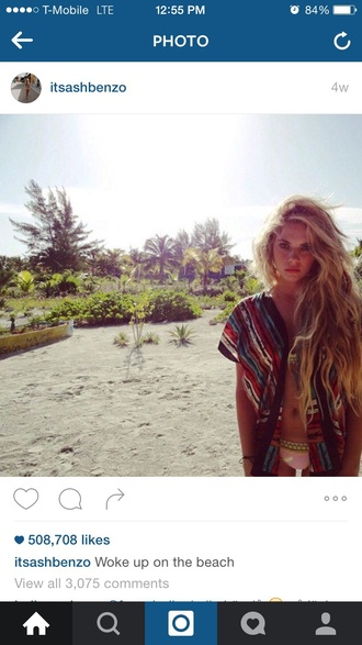 ashley benson colorful cover up